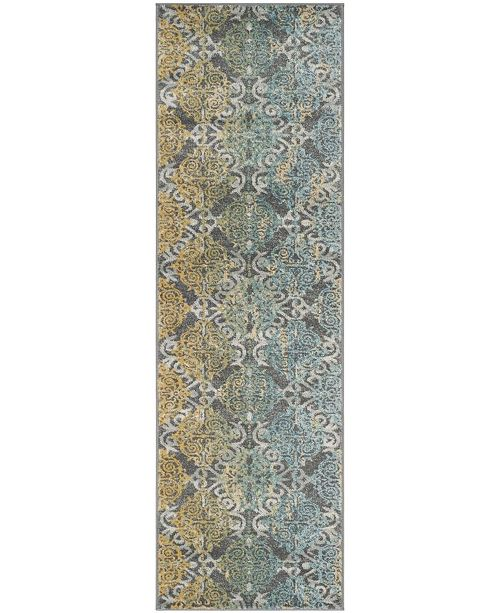 "Safavieh Evoke Grey and Ivory 2'2"" x 9' Runner Area Rug"