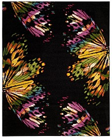 Fiesta Black and Yellow 9' x 12' Area Rug