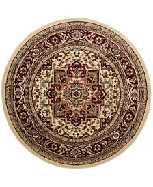 Lyndhurst Ivory and Red 10' x 10' Round Area Rug