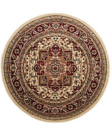 Safavieh Lyndhurst Ivory and Red 10' x 10' Round Area Rug