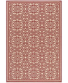 "Linden Red and Creme 5'1"" x 7'6"" Area Rug"
