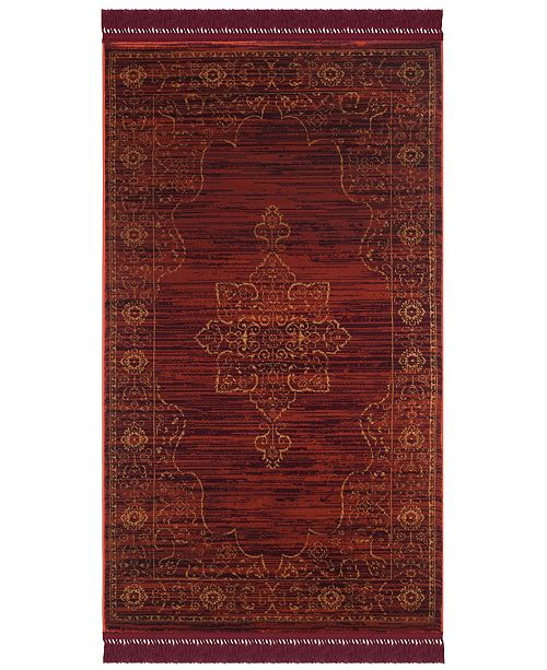 """Safavieh Serenity Ruby and Gold 3'3"""" x 5'3"""" Area Rug"""