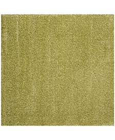 "Santa Monica Shag Green 6'7"" X 6'7"" Square Area Rug"