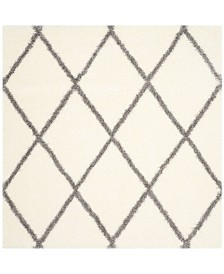 """Safavieh Montreal Ivory and Gray 6'7"""" x 6'7"""" Square Area Rug"""