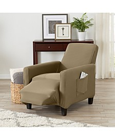 Form Fit, Slip Resistant, Strapless Jersey Knit Recliner Slipcover