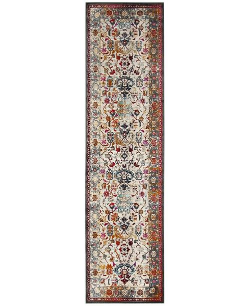 "Safavieh Baldwin Ivory and Anthracite 2'2"" x 6' Sisal Weave Runner Area Rug"