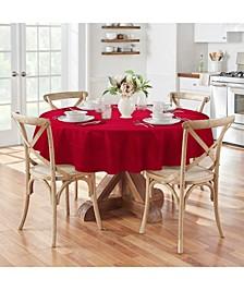 "Elegance Plaid 70"" Round Tablecloth"