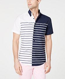 Tommy Hilfiger Men's Aldrich Custom Fit Striped Shirt