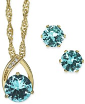 cd9978059 Charter Club Crystal Pendant Necklace and Earrings Set