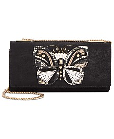 I.N.C. Butterfly Suede Crossbody Wallet, Created for Macy's