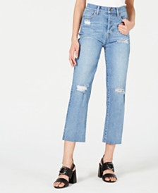 Kendall + Kylie Ripped Cropped Jeans