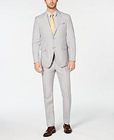 Men's Slim-Fit Light Gray Suit
