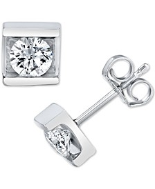Diamond Pressure Mount Stud Earrings (1/4 ct. t.w.) in 14k White Gold