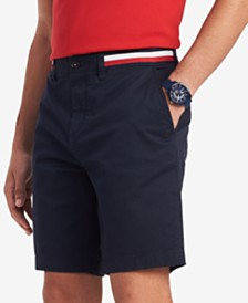 "Tommy Hilfiger Men's 9"" Stripe Shorts, Created for Macy's"