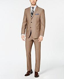 Men's Slim-Fit Stretch Wrinkle-Resistant Solid Textured Suit
