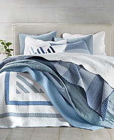 Martha Stewart Collection Coastal Quilt and Sham Collection, Created for Macy's