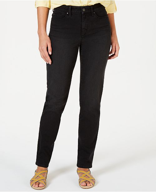 Charter Club Tummy-Control Straight-Leg Jeans, Created for Macy's