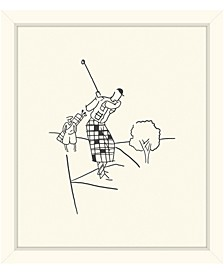 "Golfer Swinging Framed Giclee Wall Art - 29"" x 33"" x 2"""