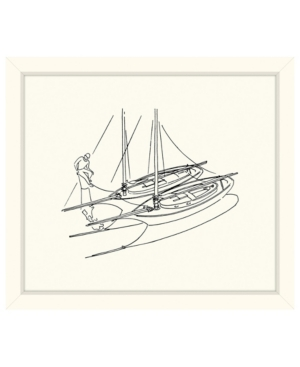 Two Sailboats Sketch Framed Giclee Wall Art - 29