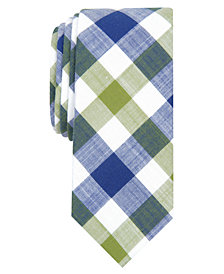 Original Penguin Men's Thierot Gingham Skinny Tie