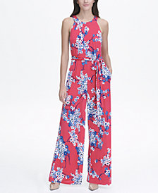 Tommy Hilfiger Eloise Floral Jersey Print Halter  Jumpsuit