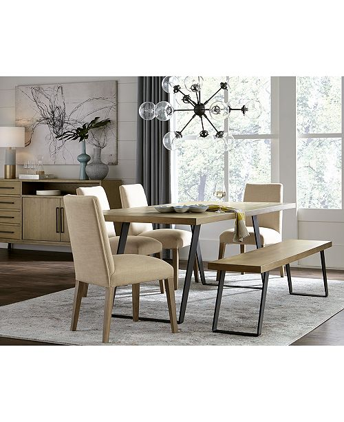 Admirable Closeout Clarita Dining Furniture 6 Pc Set Table 4 Side Chairs Bench Created For Macys Pdpeps Interior Chair Design Pdpepsorg
