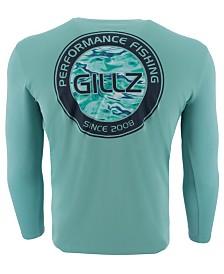 Gillz Men's Watermark Logo Graphic Moisture-Wicking UV T-Shirt