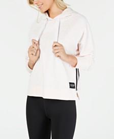 Calvin Klein Performance Logo-Print Varsity-Stripe Hoodie