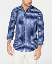 958940d9e8f Michael Kors Men s Slim-Fit Check Linen Shirt