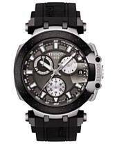 bb7db0230aa Tissot Men's Swiss Chronograph T-Sport T-Race Black Silicone Strap Watch  47.6mm