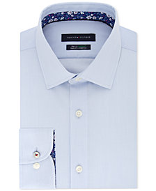 Tommy Hilfiger Men's Slim-Fit THFlex Supima® Stretch Non-Iron Solid/Floral Dress Shirt