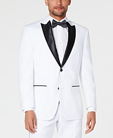 Men's Classic-Fit White Tuxedo Jacket