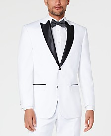 Sean John Men's Classic-Fit White Tuxedo Jacket