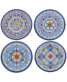 Certified International Capri Isle Assorted Melamine Salad Plates, Set of 4