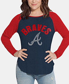 Touch by Alyssa Milano Women's Atlanta Braves Long Sleeve Touch T-Shirt