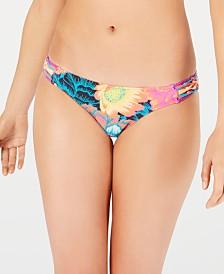 Body Glove Printed Flirty Surf Rider Strappy-Side Bikini Bottoms