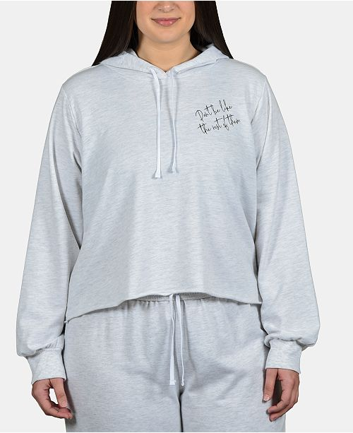 Soffe Curves Plus Size Cropped Hoodie