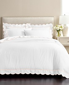 CLOSEOUT! Martha Stewart Signature Scallop Duvet Sets, Created for Macy's