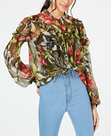French Connection Floreta Ruffled Blouse