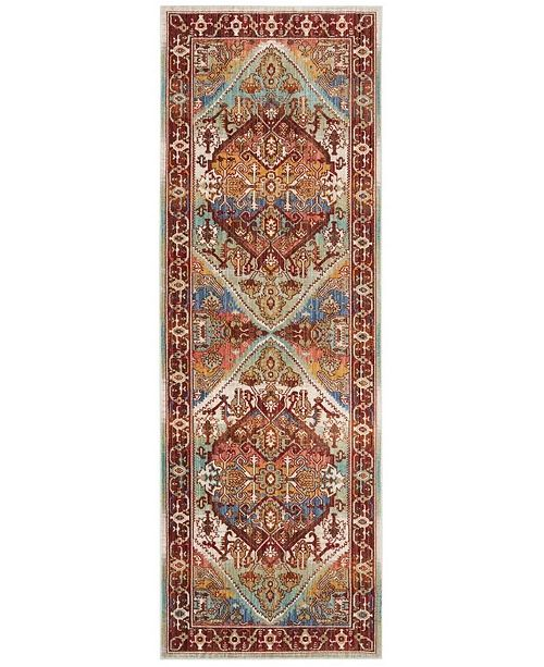 Safavieh Sutton Rust and Multi 3' x 8' Area Rug
