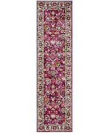 "Savannah Violet and Grey 2'3"" x 8' Runner Area Rug"