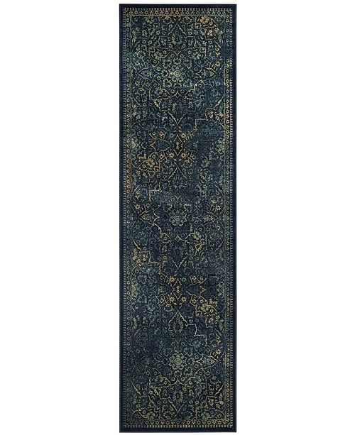 """Safavieh Vintage Blue and Yellow 2'2"""" x 8' Runner Area Rug"""