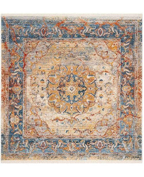 Safavieh Vintage Persian Blue and Multi 5' x 5' Square Area Rug