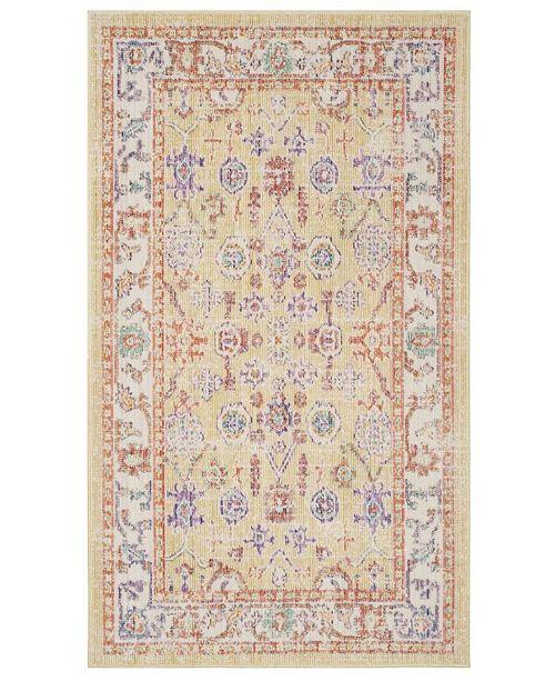 Safavieh Windsor Gold and Lavender 3' x 5' Area Rug