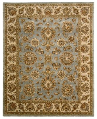 "CLOSEOUT! Area Rug, Rajah Collection JA32 Indore Light Blue 5'6"" x 8'6"""