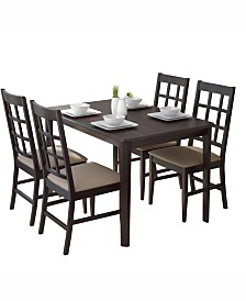 """CorLiving 5pc 47"""" Wide Dining Set, with Leatherette Chairs"""