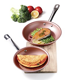 Culinary Edge 8'' and 11'' Diamond Textured Bottom Non-Stick Frypan