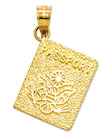 14k Gold Charm, Passport Charm