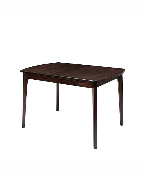 """Corliving Distribution CorLiving Extendable Stained Oblong Dining Table with 12"""" Butterfly Leaf"""