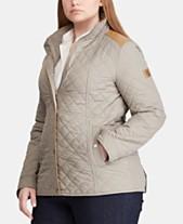 186230ecba7596 Lauren Ralph Lauren Plus Size Faux-Leather-Trim Quilted Coat